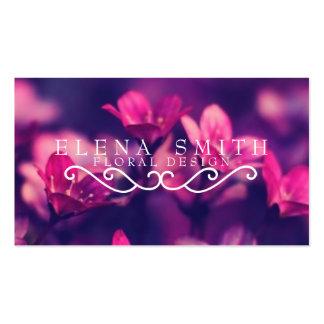 Florista violeta tarjetas de visita