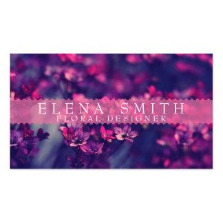 Florista violeta plantillas de tarjetas personales