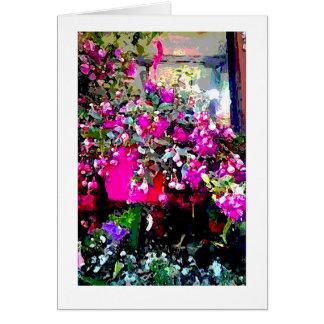 Floristería en tarjeta de nota de la impresión del