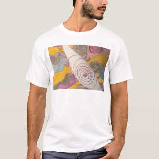 Flotación en el vacío del arco iris camiseta