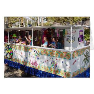 Flotador del Hippie del carnaval Tarjeta De Felicitación