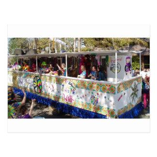 Flotador del Hippie del carnaval Postal