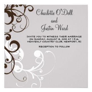 flourish; bodas de plata invitaciones personalizada