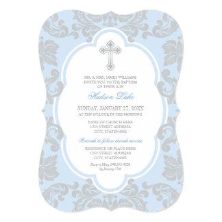 Flourish de plata elegante de la invitación el |