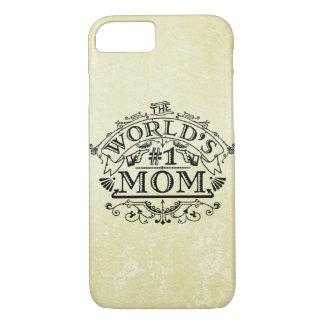 Flourish del vintage de la mamá del número uno del funda iPhone 7