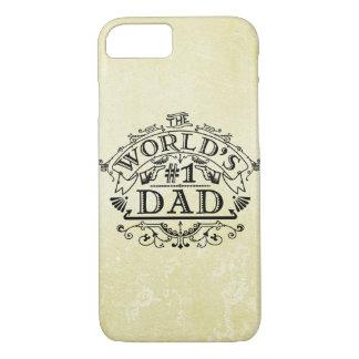 Flourish del vintage del papá del número uno del funda iPhone 7