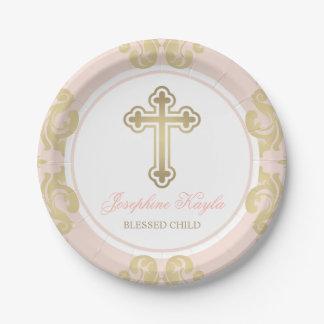Flourish elegante de encargo del oro de las placas platos de papel