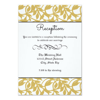 Flourish formal retro del oro - invitación de la
