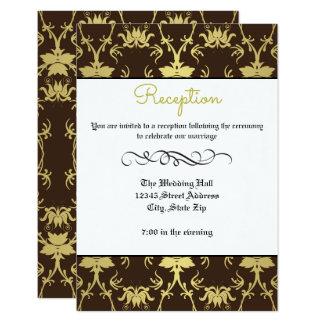 Flourish formal retro del oro - invitación de la