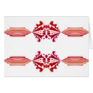 Flourish magenta blanco rojo NT del oro de Tarjeta De Felicitación