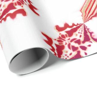 Flourish magenta del oro blanco del diseñador papel de regalo
