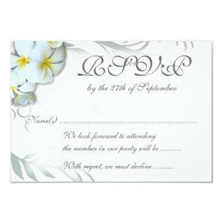 Flourish RSVP del Plumeria que casa la tarjeta del Invitación 8,9 X 12,7 Cm