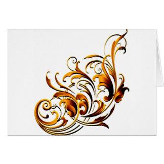 Flourishes decorativos antiguos tarjeta de felicitación