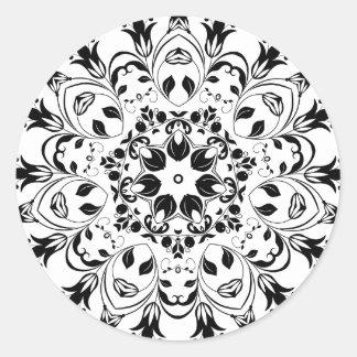 Flourishing-Floral-Design-800px Pegatina Redonda