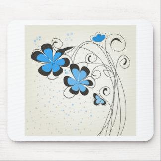 Flower2 azul alfombrilla de ratón