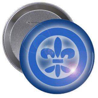 Ho Oponopono Flor de lis - Lis Flower - Shine Healing Effects Chapa Redonda De 5 Cm