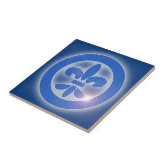 Flor de Lis - Lis Flower - Shine Healing Effects Azulejo Cuadrado Pequeño