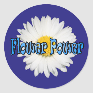 Flower power 1 pegatina redonda