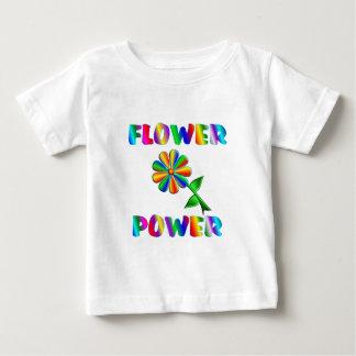 Flower power camiseta de bebé