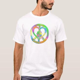 Flower power del amor de la paz camiseta
