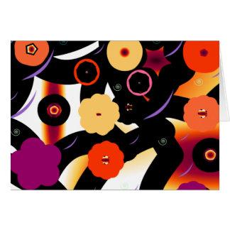 ¡flower power enrrollado de los años 70! tarjeta de felicitación