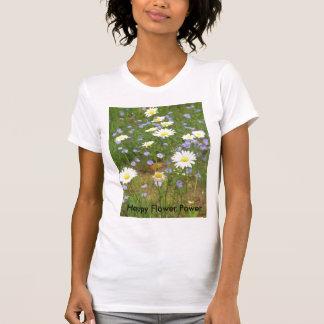 Flower power feliz camisetas