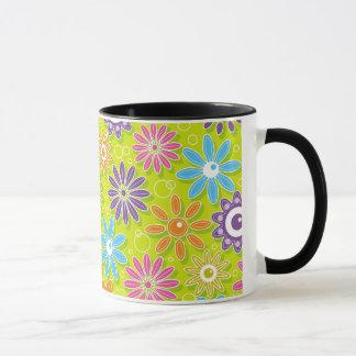Flower power maravilloso de la primavera taza