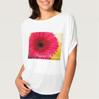 flower power rosado camisetas