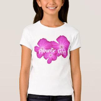 ¡Flower power rosado! camisetas de encargo a