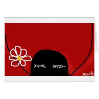 Flower power tarjeta