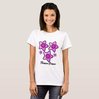 Flower power… tengo la flor del poder en rosa camiseta