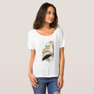 Flower power verde camiseta