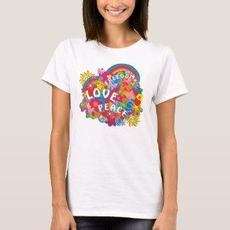 FlowerPowerRainbow Camiseta