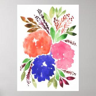 flowers1c pintado a mano póster