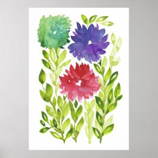 flowers2e pintado a mano póster