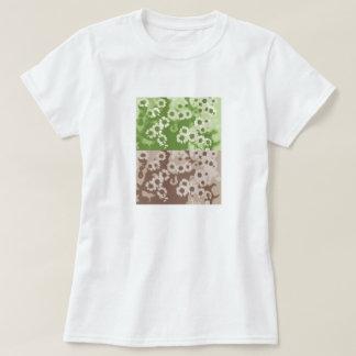 flowers green brown camiseta