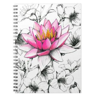 Flowers notebook cuaderno
