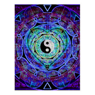 Flujo de energía de Yin Yang Postal