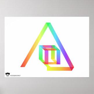 Flujo del color póster