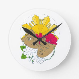 Flujo filipino de Sampaguita del hibisco de Sun de Reloj Redondo Mediano