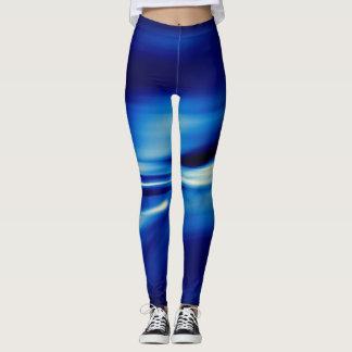 Flujo liso azul legging