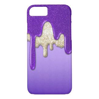 Flujo púrpura del brillo funda iPhone 7