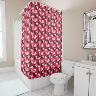 Flujos enrrollados cortina de baño