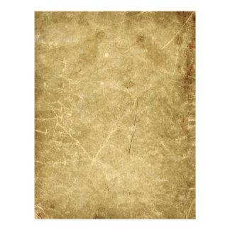 Flyer Antigüedad en blanco manchada arrugada