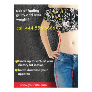 Flyer anuncios para la dieta