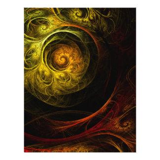 Flyer Aviador rojo floral del arte abstracto de la