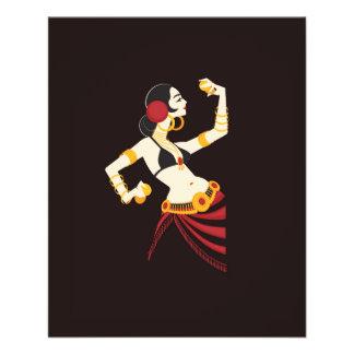 Flyer bailarina de la danza del vientre tribal de la