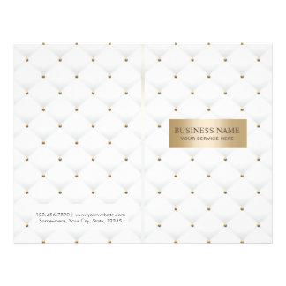 Flyer BI-Doblez acolchado lujo del salón de belleza del