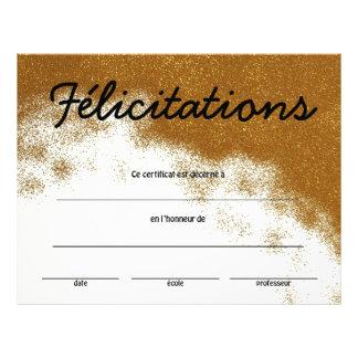 Flyer Certificado francés de la clase de logro