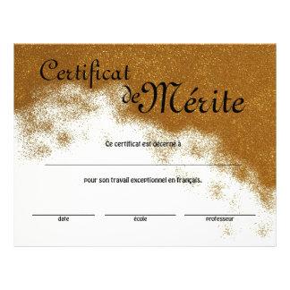 Flyer Certificado genérico de la clase francesa de